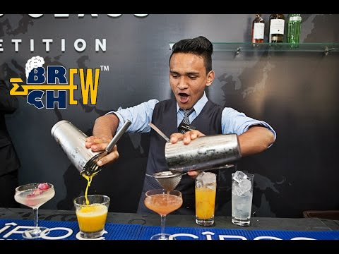 (HD) Jeet rana making cocktails and representing india - diageo world class 2016 at miami
