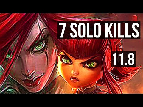 (New) Katarina vs annie (mid) | penta, 7 solo kills, 700+ games, 900k mastery | euw diamond | v11.8