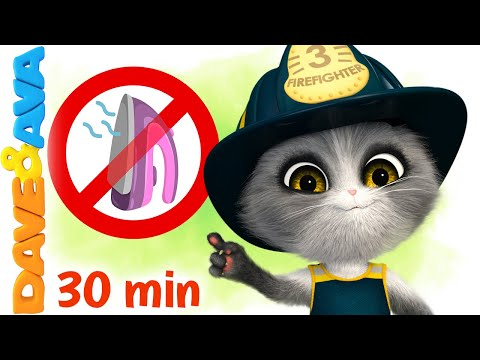 (New) 😻 five little firemen and more nursery rhymes by dave and ava 😻