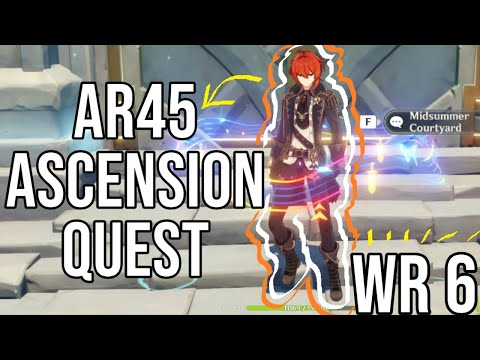(HD) [genshin impact] - ar45 ascension quest for world level 6!! finally!
