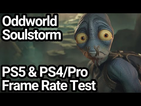 (New) Oddworld soulstorm ps4 pro and ps5 frame rate test