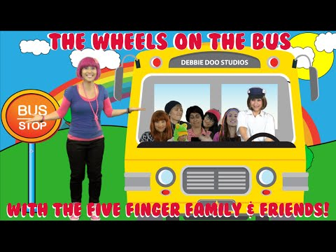 (VFHD Online) The wheels on the bus song - featuring the five finger family and debbie doo