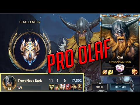 (VFHD Online) Challenger olaf pro gameplay in wild rift (lol mobile)