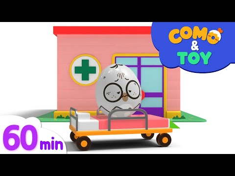 (New) Como and toys | claw machine + more episode 60min | learn colors and words | como kids tv