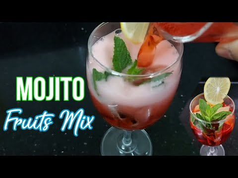 (New) How to make virgin mojito recipe[such a lovely taste [refreshing fruits mix summer drinks