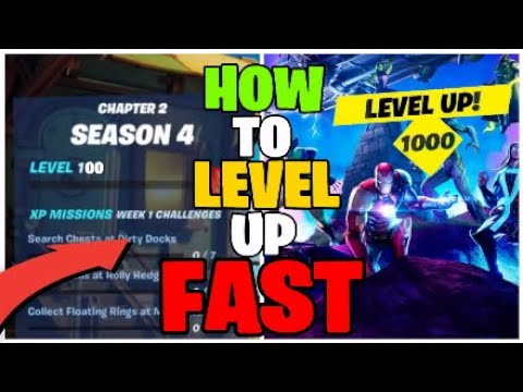 (New) How to level up fast in season 4 chapter 2 (tier 100 fast)