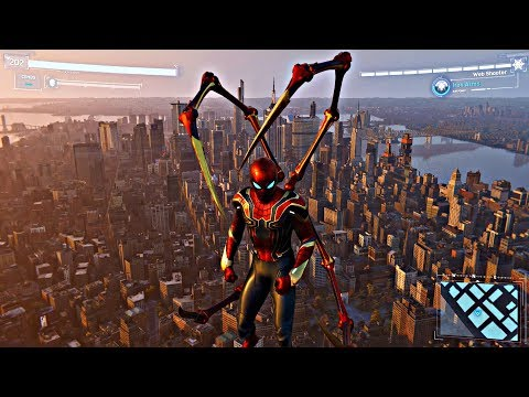 (New) Spider-man ps4 - jumping off biggest building in avengers stark suit (spiderman 2018) ps4 pro