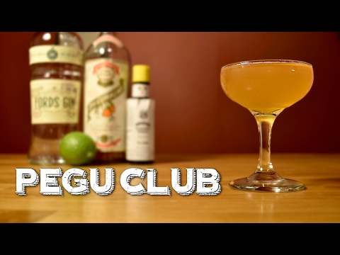 (HD) Pegu club - how to make the classic gin cocktail