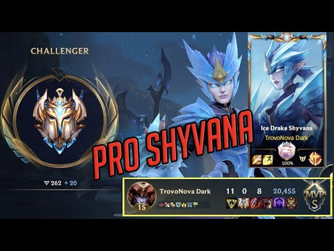 (VFHD Online) Challenger shyvana pro gameplay in wild rift (lol mobile)