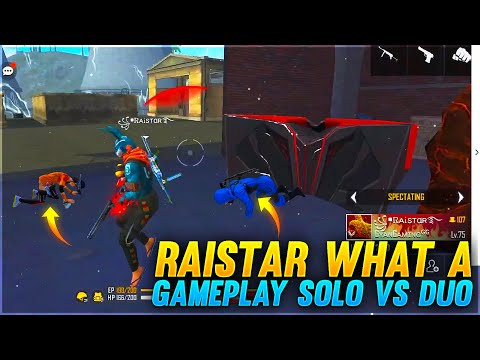 (New) Raistar what a gameplay solo vs duo clash squad | garena free fire