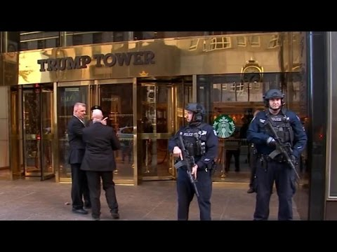 (New) Secret service works to secure trump tower