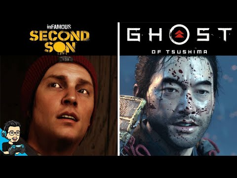 (New) Ghost of tsushima vs. infamous second son - did sucker punch improve? direct comparison