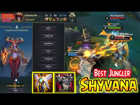 (New) Shyvana wild rift new patch - shyvana best jungler build - shyvana insane jungler - league of legend