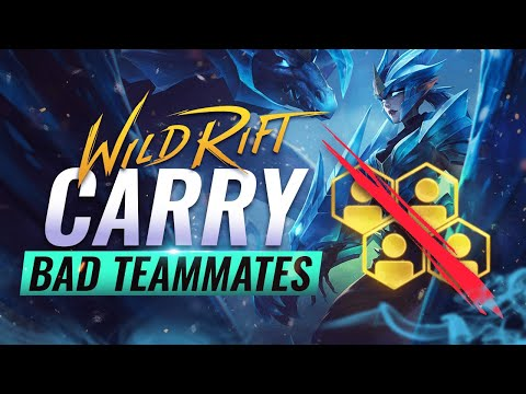 (New) 10 tips to solo carry bad players in wild rift (lol mobile)