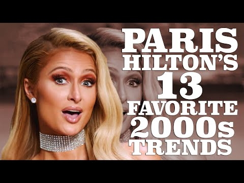 (New) Paris hilton breaks down her favorite 2000s trends | w magazine