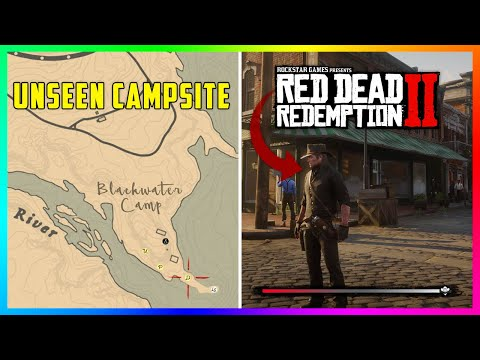 (VFHD Online) The gangs unseen blackwater camp site revealed in red dead redemption 2! (rdr2 secrets)