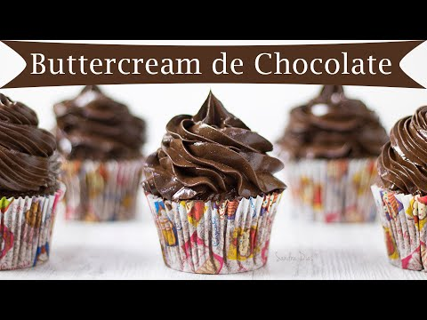 (New) Buttercream de chocolate de merengue suíço | receita sandra dias | especial bolos decorados