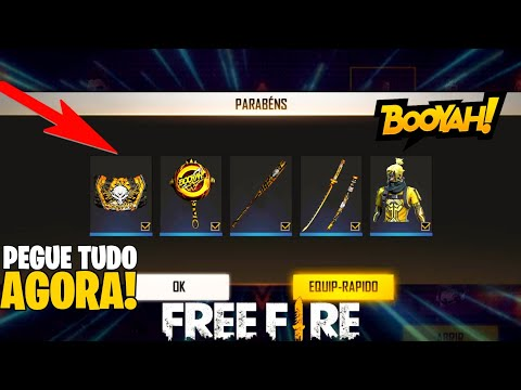 (New) Como pegar todas as recompensas do evento booyah! token booyah, booyah go, panela, gelo e mais!
