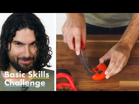 (HD) 50 people try to peel a tomato | epicurious