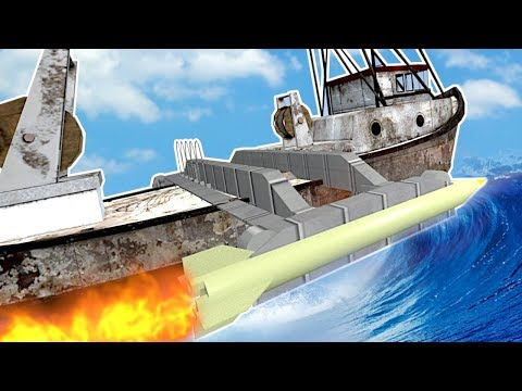 (New) Building a boat to survive a tsunami! - garrys mod gameplay