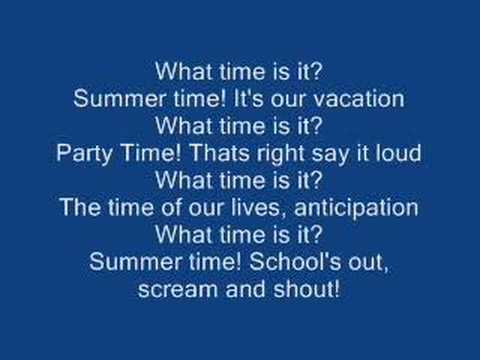 (New) High school musical 2 - what time is it? [lyrics]