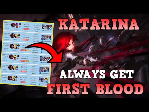 (New) How to always get first blood as katarina | season 11 | league of legends