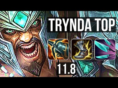 (New) Tryndamere vs shen (top) | 4 0 4, 1200+ games, 1.3m mastery | euw master | v11.8