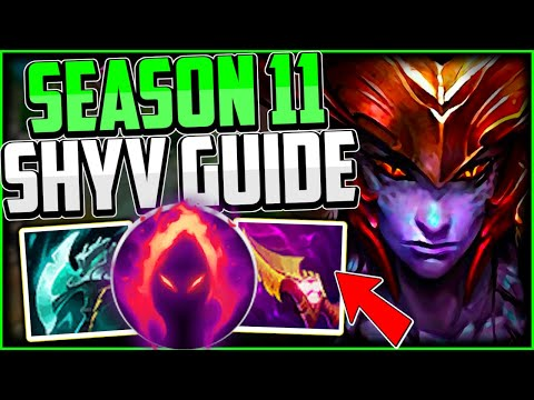 (New) How to play shyvana jungle e carry! + best build runes | shyvana guide season 11 league of legends