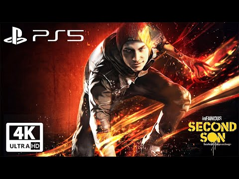 (New) Infamous second son ps5 all cutscenes (good karma) game movie 4k 60fps ultra hd