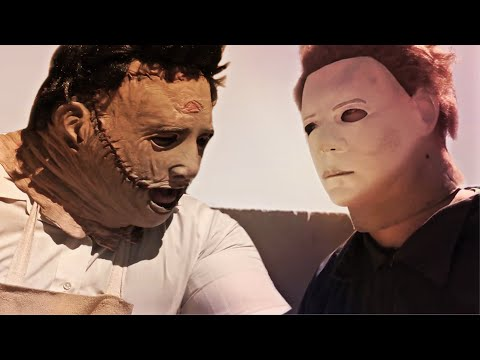 (New) Michael myers vs leatherface! - arm wrestling contest