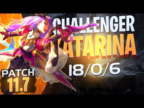 (New) Katarina mid *challenger * patch 11.7 how to play katarina mid season 11 2021 league of legends