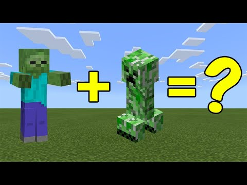 (VFHD Online) I combined a zombie and a creeper in minecraft - heres what happened...