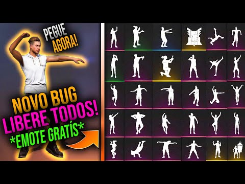 (New) Novo super bug para liberar todos os emotes de graça no free fire! pegue agora emoticons raros!