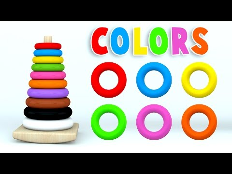 (Ver Filmes) Learn colors with color stack rings and more colours videos for children