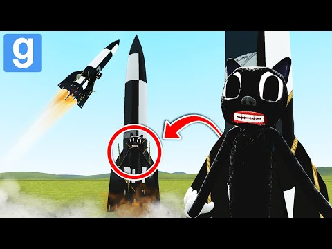 (New) Sending cartoon cat to space! 🚀 bad trevor henderson dupes 49! (garrys mod sandbox) | justjoeking