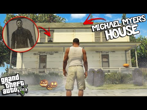 (New) Going to michael myers house on halloween in gta 5