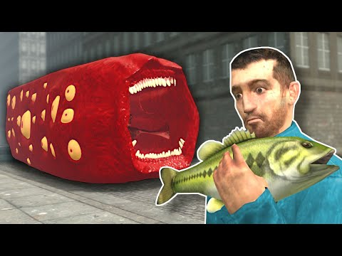 (New) Train eater is after me! - garrys mod gameplay