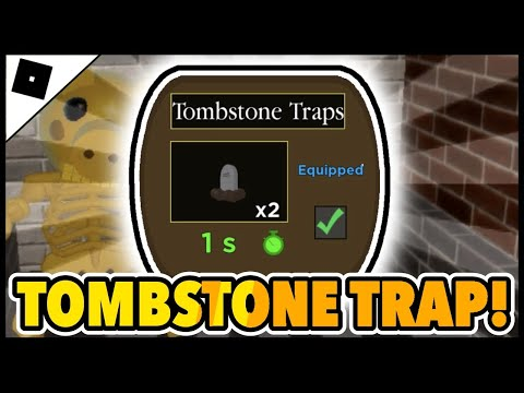 (New) ► how to get the tombstone trap e find all skeleton pieces in the piggy [halloween event] || roblox