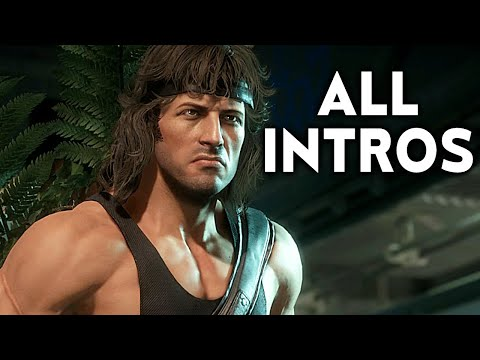 (New) Mortal kombat 11 rambo all intros dialogue character banter mk11