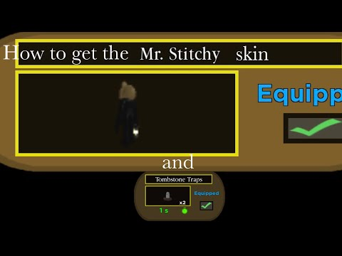 (HD) How to get the secret mr. stitchy skin and tomstone traps in roblox piggy!