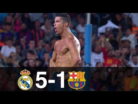 (New) Real madrid vs barcelona 5-1 goals e highlights w  english commentary spanish supercup 2017 hd 1080p