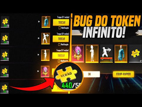 (New) Bug do token mistério de verão infinito! pegue agora skin e emoticon one punch de graça no free fire