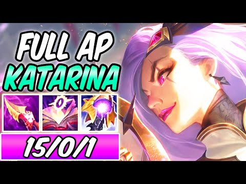 (New) S+ clean on-hit full ap katarina mid - battle queen katarina gameplay s11 - league of legends