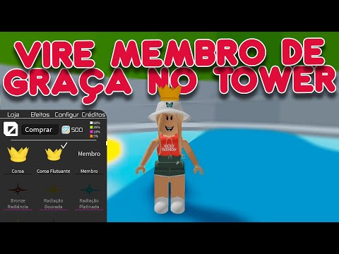 (New) Virando membro de graça no tower of hell - roblox