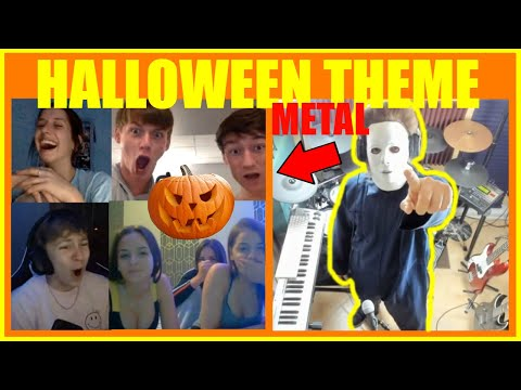 (Ver Filmes) Michael myers plays halloween theme song metal on omegle!!