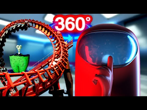 (New) 360 video | among us 3d vr ride - who is the imposter? part 1