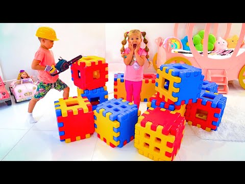(Ver Filmes) Diana and roma pretend play with toy blocks