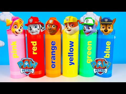 (Ver Filmes) Learning colors with chases paw patrol | huge crayons and super pup toys | ellie sparkles