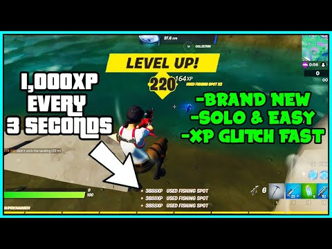 (HD) *solo xp glitch* fortnite how to level up fast in season 4! (chapter 2 new unlimited xp)
