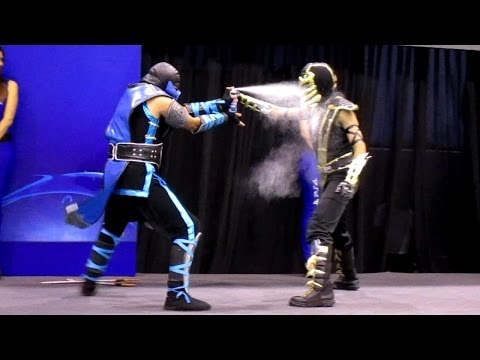 (New) Scorpion vs sub zero cosplay [masgamers vii]